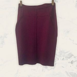 Aritzia Wilfred Free Burgundy Pencil Skirt Size S
